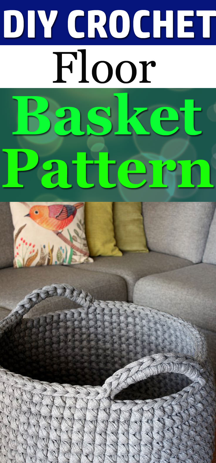 Learn how to make this Floor Basket with ourfree crochet pattern, it's fun and easy to follow!