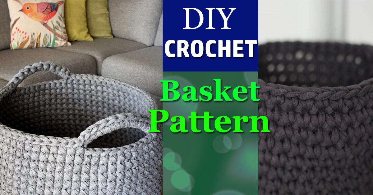 Diy Free Crochet Floor Basket Pattern Crocht