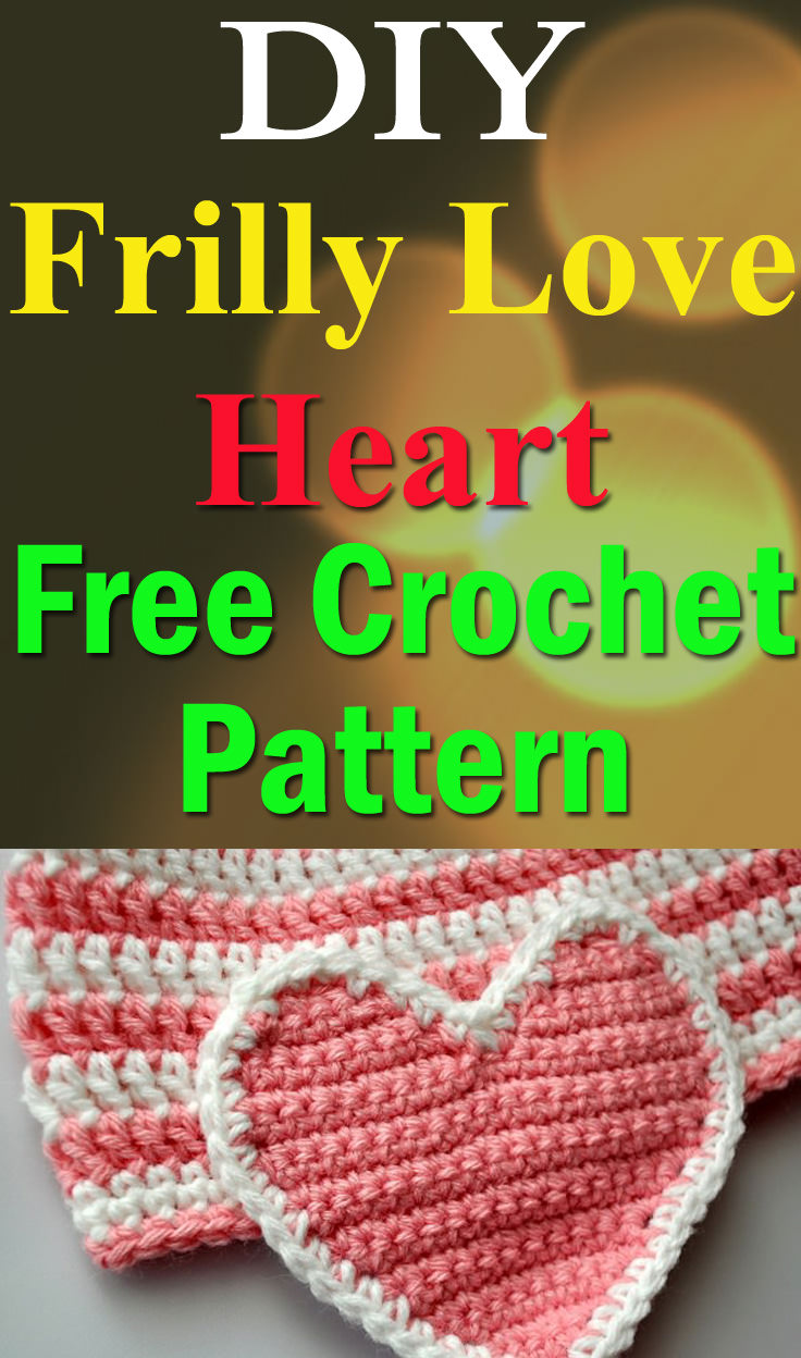 Frilly Love Heart Crochet Pattern - Crocht
