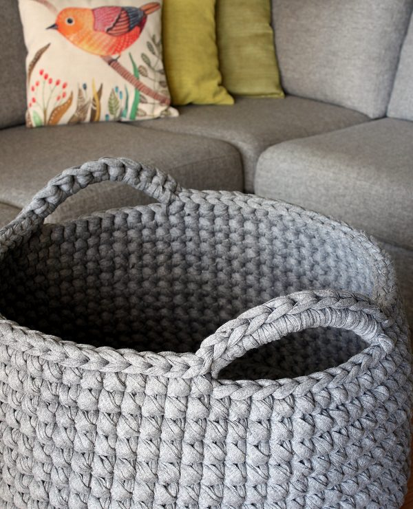 Diy Free Crochet Floor Basket Pattern Crocht
