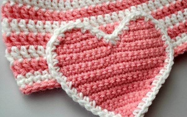 Love Hearts Crochet Pattern Frilly Love Heart Crochet