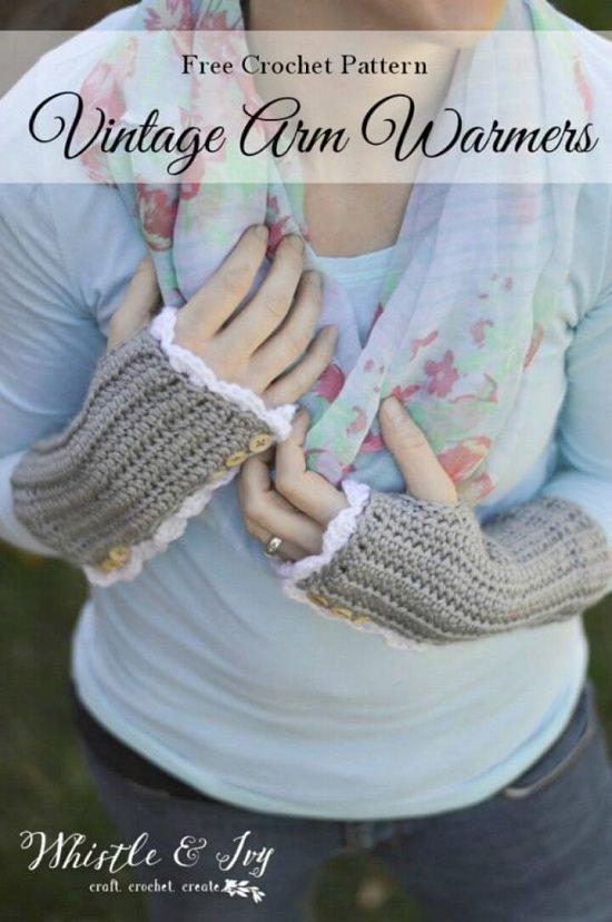 DIY Crochet Hand Warmer 6