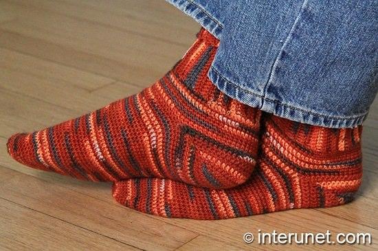 DIY Crochet Socks 12