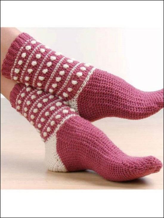 DIY Crochet Socks 14