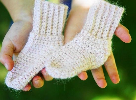 DIY Crochet Socks 15