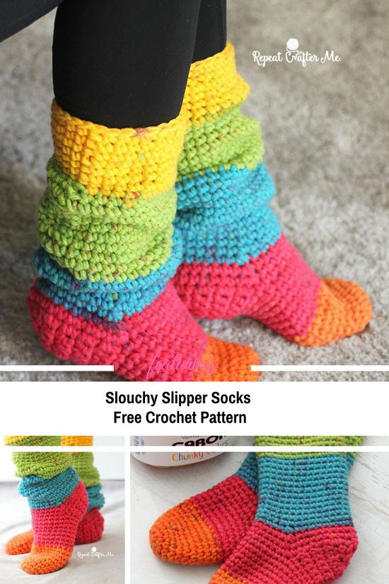 DIY Crochet Socks 17