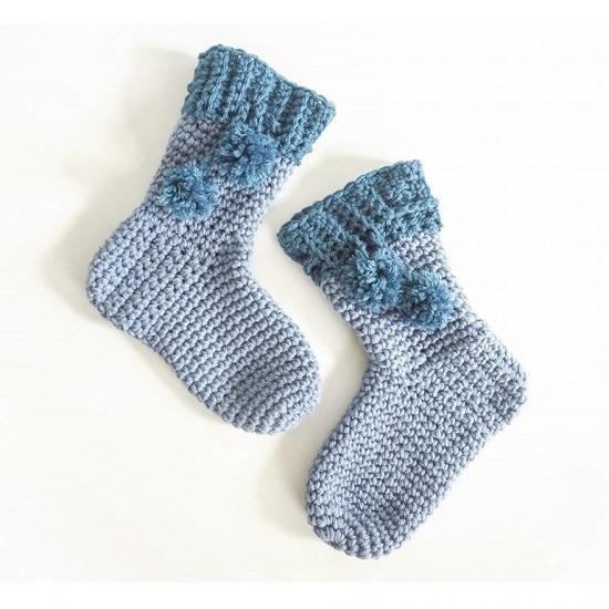 DIY Crochet Socks 19