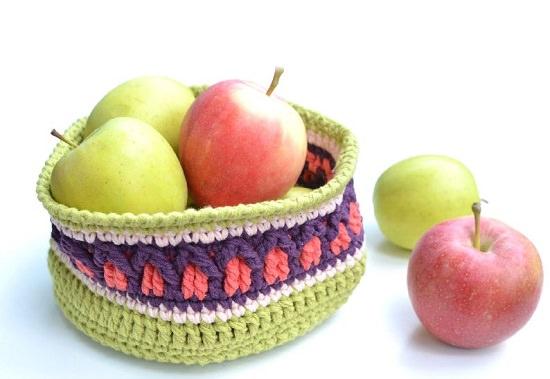 DIY Crochet Basket 5