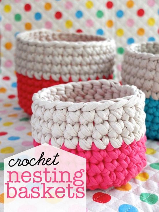DIY Crochet Basket 6
