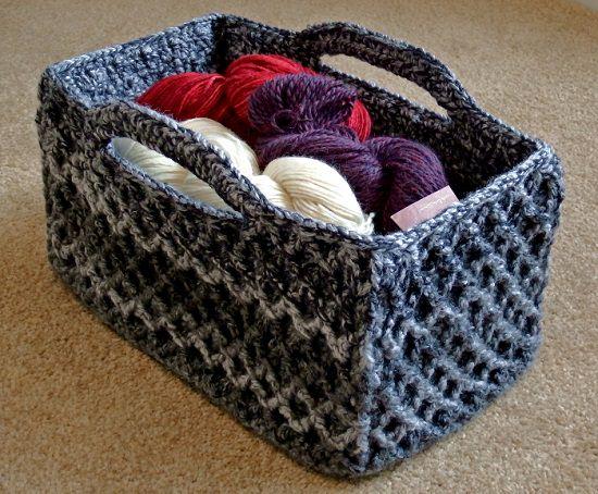 DIY Crochet Basket 8