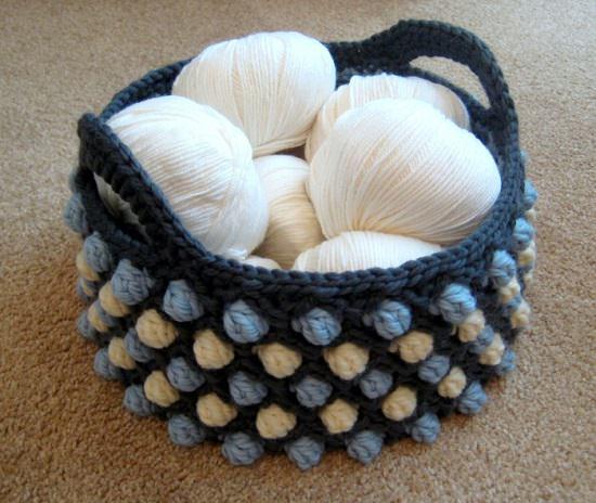 DIY Crochet Basket 9