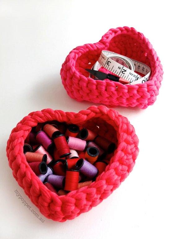 DIY Crochet Basket 12