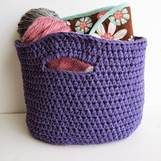 DIY Crochet Basket 14