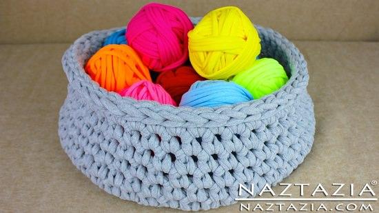 DIY Crochet Basket 2