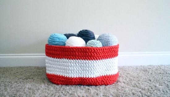 DIY Crochet Basket 3