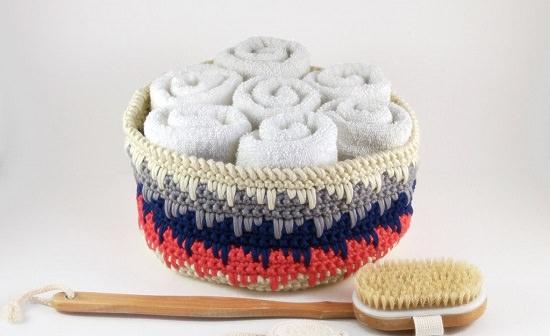 DIY Crochet Basket 4
