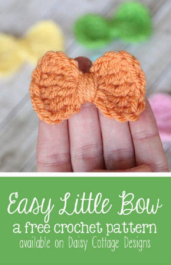 DIY Crochet Bows