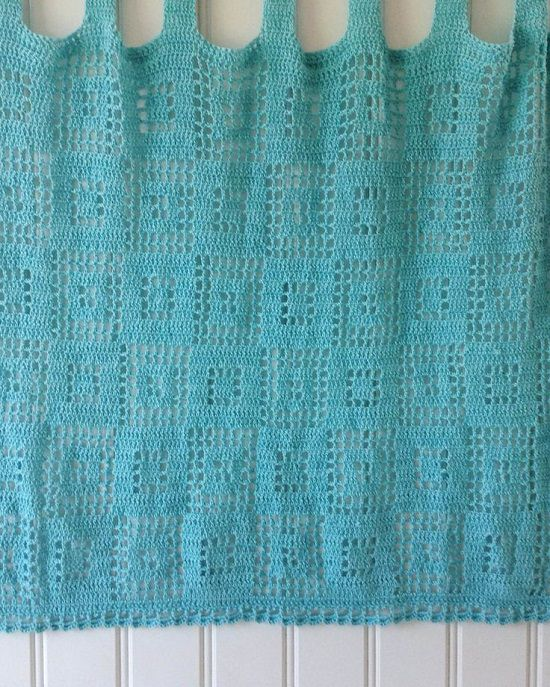 DIY Crochet Curtains 4
