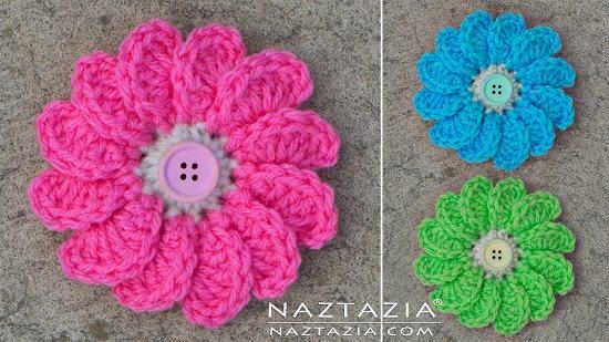DIY Crochet Flower 7