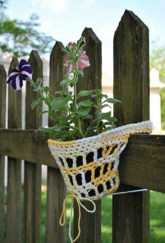 DIY Crochet Planter 7