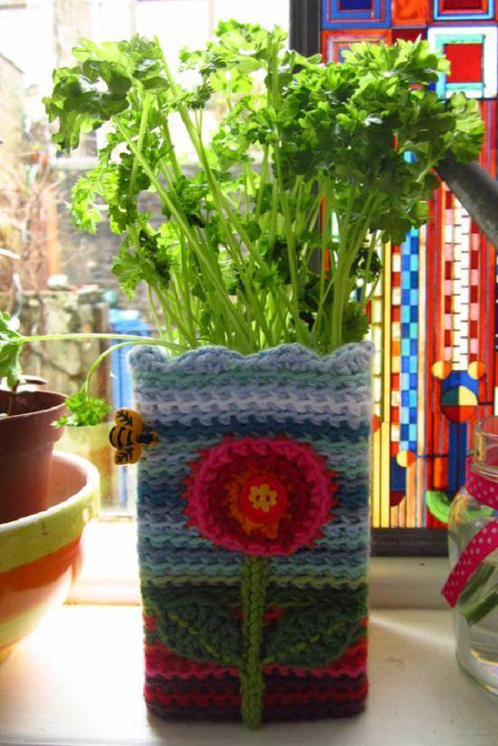 DIY Crochet Planter 4