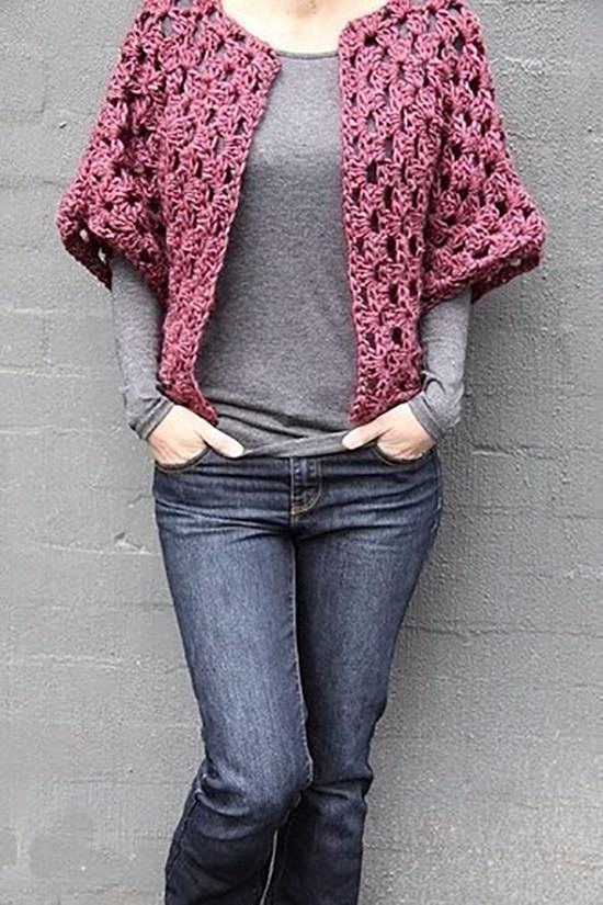 DIY Crochet Shrug 8