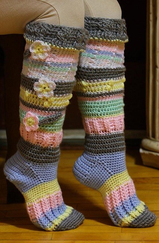 DIY Crochet Socks