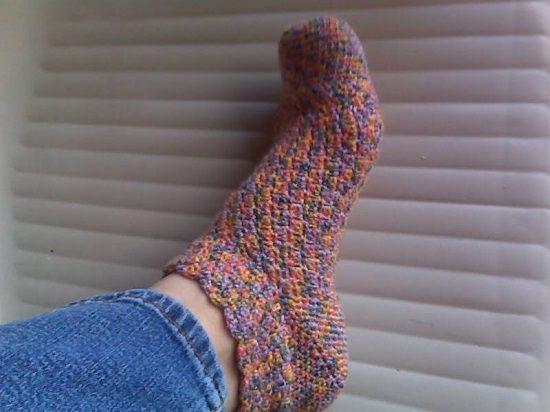 DIY Crochet Socks 9