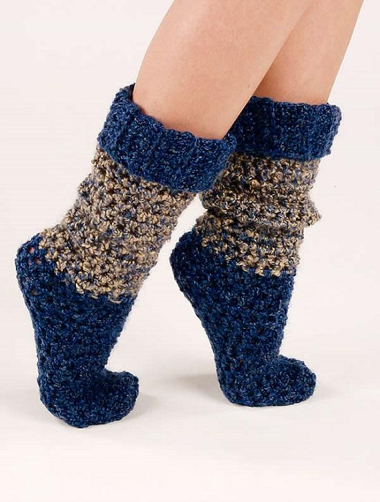 DIY Crochet Socks 10