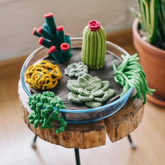 DIY Crochet Succulents