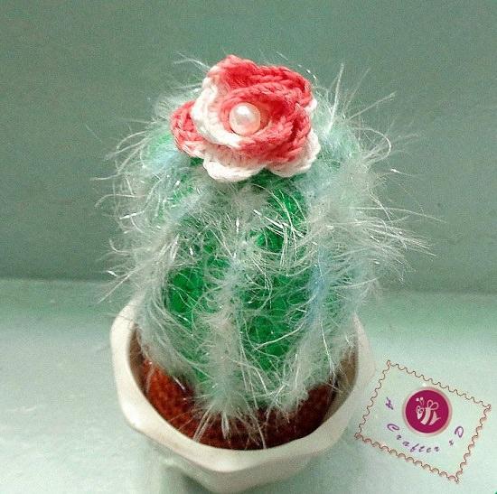 Crochet Baby Cactus Amigurumi Free Pattern Video - Fun House Plant ... | 547x550