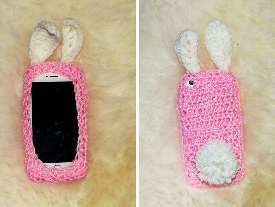 DIY Crochet Mobile Case 5