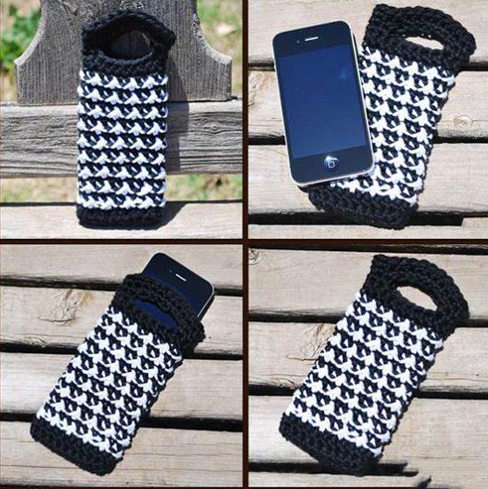 DIY Crochet Mobile Case 7