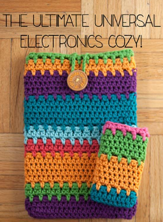DIY Crochet Mobile Case 10