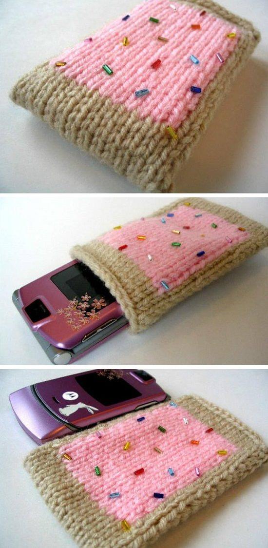 DIY Crochet Mobile Case 14