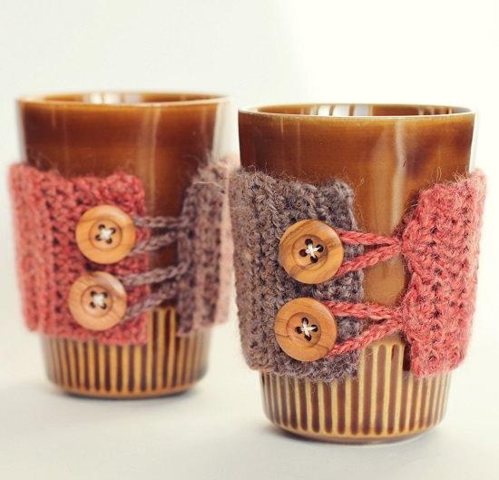 DIY Crochet Mug Cozy 8