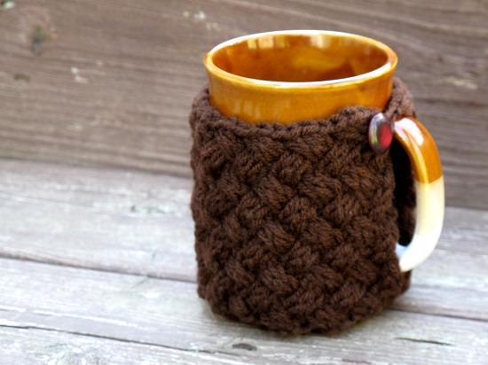 DIY Crochet Mug Cozy 10