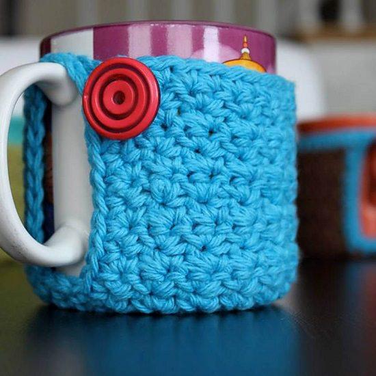 DIY Crochet Mug Cozy 3