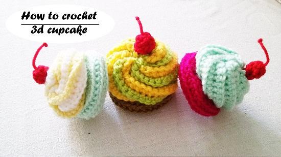 DIY Crochet Cake 12