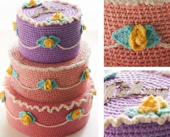 DIY Crochet Cake 15