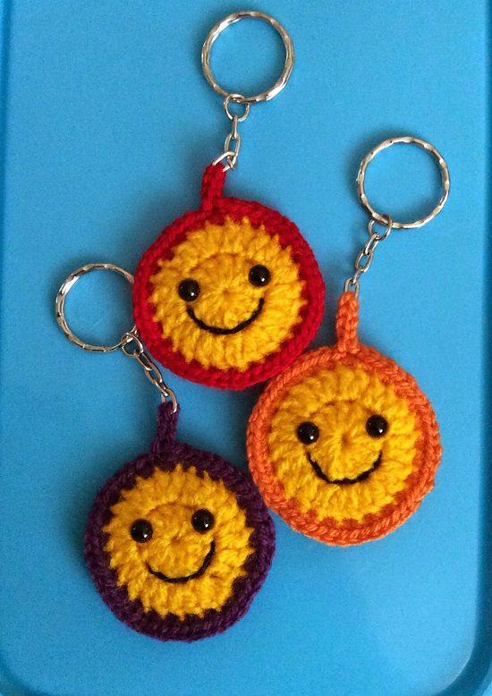 Cute Amigurumi Keychains Free Crochet Patterns | Crochet keychain ... | 778x550