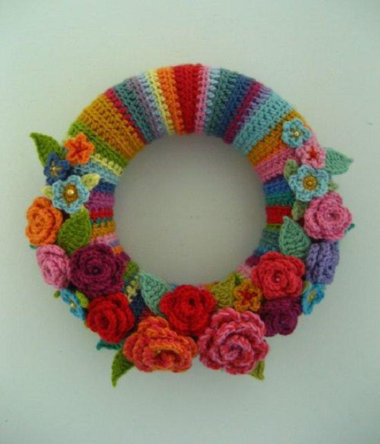 diy crochet wreath ideas