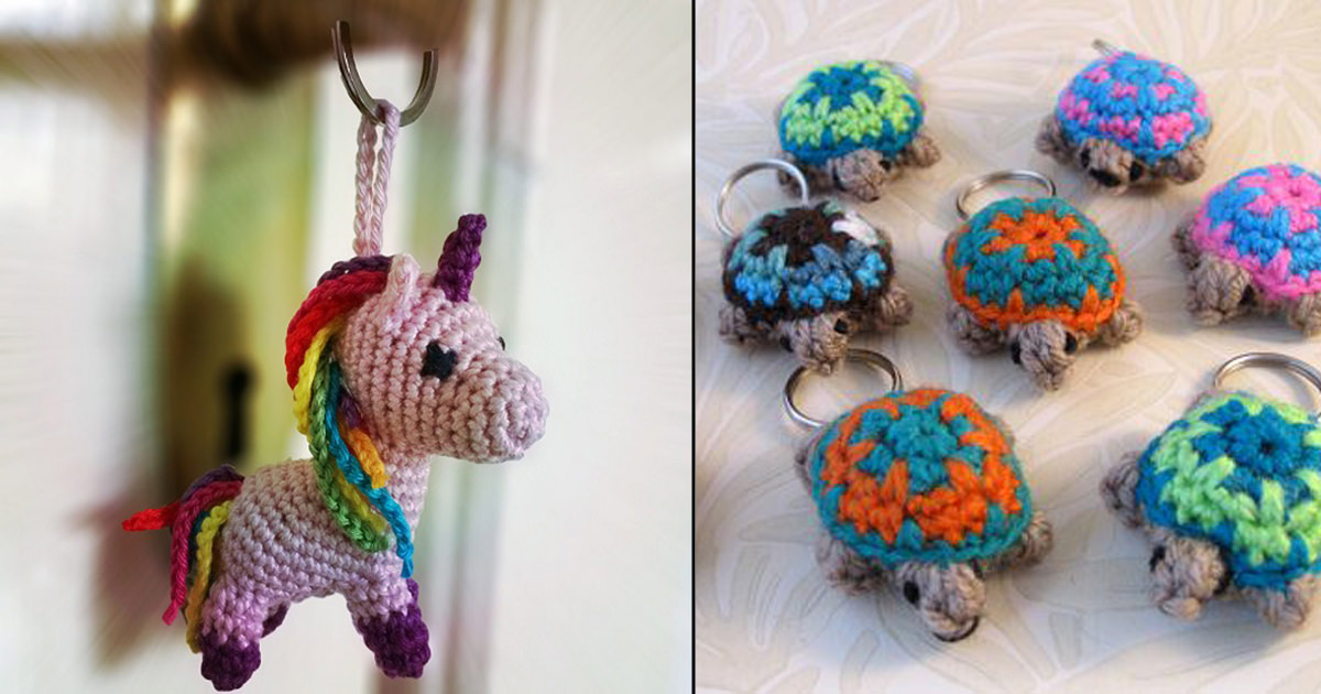 15 Free Must-Make Amigurumi Keychains for Bags, Purses, and Keys ... | 630x1200