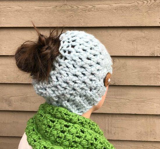Truly amazing Messy Bun Hat Crochet Pattern