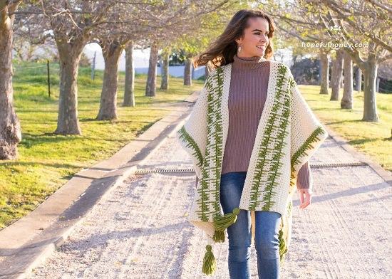 very easy to make Free Crochet Poncho Patterns