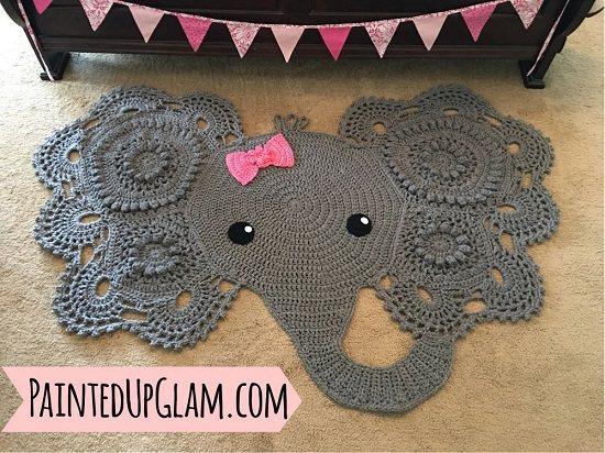 Free Crochet Elephant Rug Patterns 4