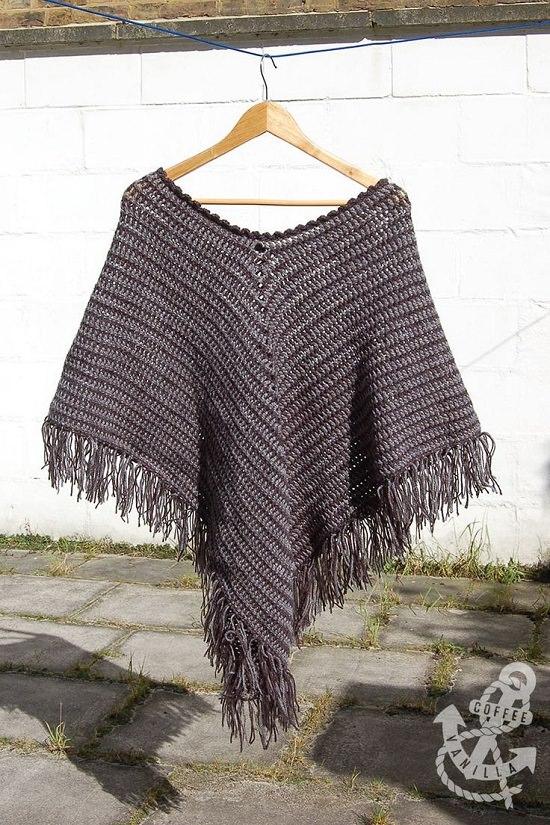simply stunning Free Crochet Poncho Patterns