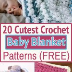 Handmade crochet blankets are carefully stitched & flooded with love as well. Try these Free Crochet Baby Blanket Patterns ideas for your little one!