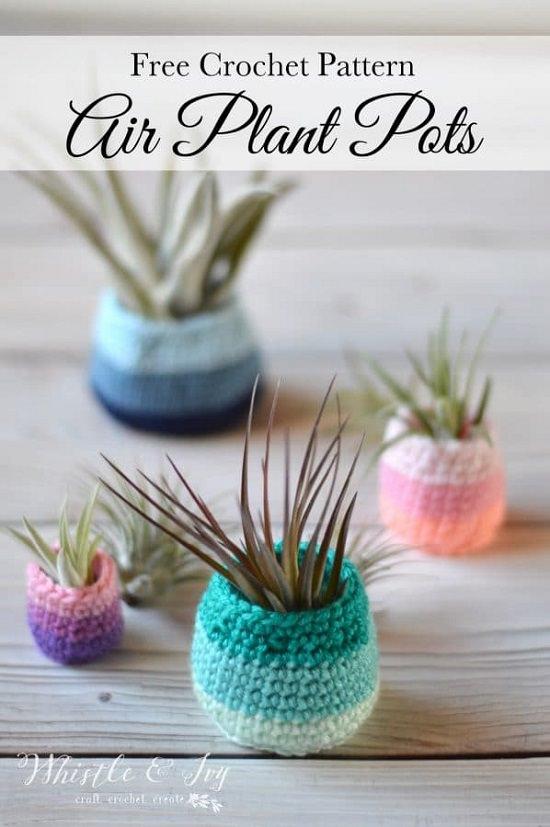 Crochet Air Plant Holder Patterns