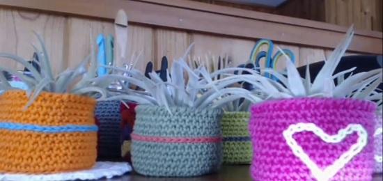 Crochet Air Plant Holder Patterns 3